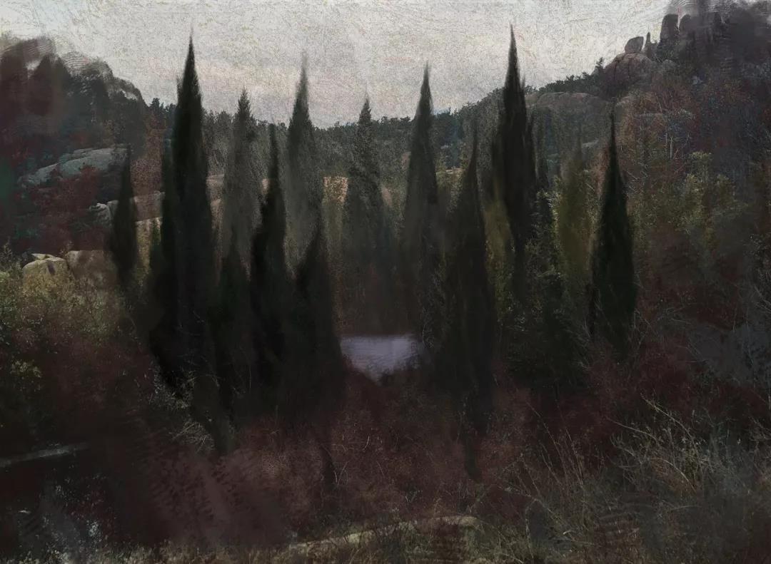 《看不见的风景》|150.0x110.0cm |综合材料